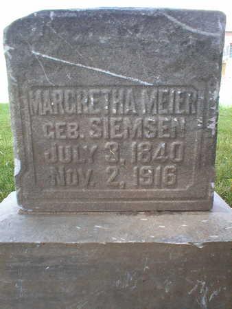 MEIER, MARGRETHA - Scott County, Iowa   MARGRETHA MEIER