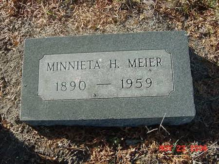 MEIER, MINNIETA H - Scott County, Iowa | MINNIETA H MEIER