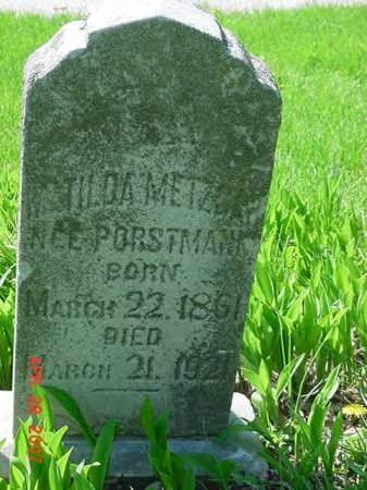 METZGAR, MATILDA - Scott County, Iowa | MATILDA METZGAR