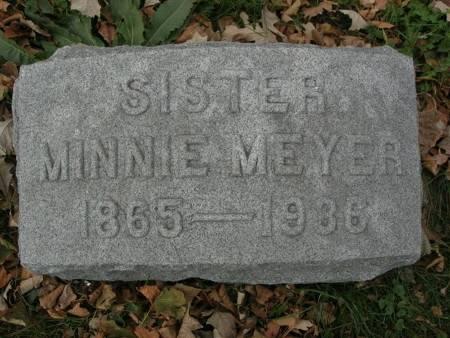 MEYER, MINNIE - Scott County, Iowa   MINNIE MEYER