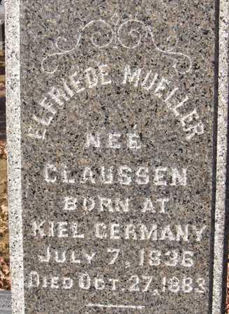 MUELLER, ELFRIEDE - Scott County, Iowa   ELFRIEDE MUELLER