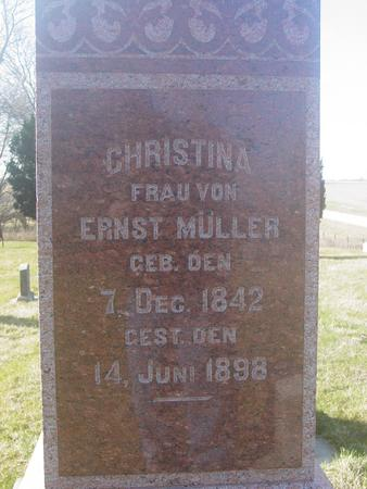 MULLER, CHRISTINA - Scott County, Iowa | CHRISTINA MULLER