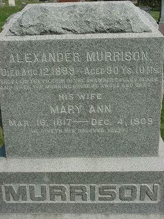 MURRISON, MARY ANN - Scott County, Iowa | MARY ANN MURRISON