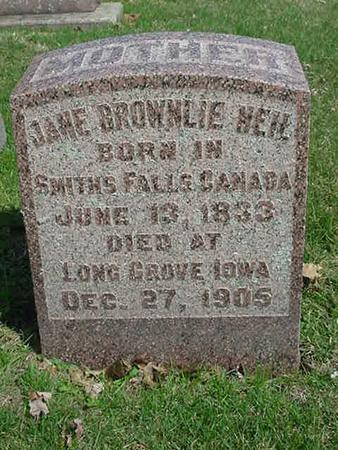 BROWNLIE NEIL, JANE - Scott County, Iowa | JANE BROWNLIE NEIL