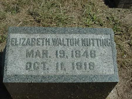 WALTON NUTTING, ELIZABETH - Scott County, Iowa | ELIZABETH WALTON NUTTING