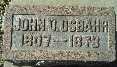 OSBAHR, JOHN D - Scott County, Iowa   JOHN D OSBAHR
