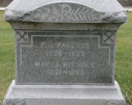 PARSONS, MARY A. - Scott County, Iowa | MARY A. PARSONS