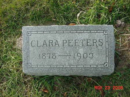 PEETERS, CLARA - Scott County, Iowa | CLARA PEETERS