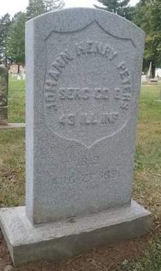 PETERS, JOHANN H. - Scott County, Iowa | JOHANN H. PETERS