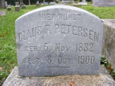 PETERSEN, CLAUS F. - Scott County, Iowa   CLAUS F. PETERSEN