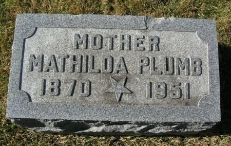 PLUMB, MATHILDA - Scott County, Iowa   MATHILDA PLUMB