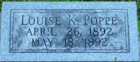 POPPE, LOUISE K. - Scott County, Iowa | LOUISE K. POPPE