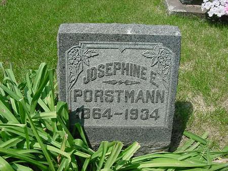 PORSTMANN, JOSEPHINE E - Scott County, Iowa | JOSEPHINE E PORSTMANN