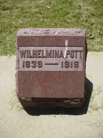 POTT, WILHELMINA - Scott County, Iowa | WILHELMINA POTT