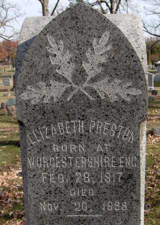PRESTON, ELIZABETH - Scott County, Iowa   ELIZABETH PRESTON