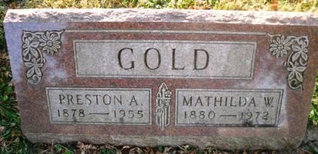 GOLD, PRESTON A. - Scott County, Iowa   PRESTON A. GOLD