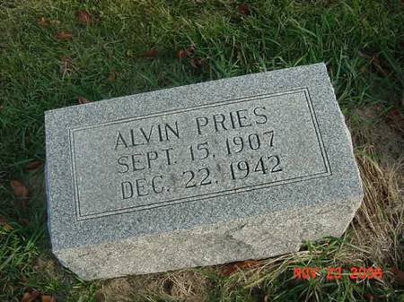 PRIES, ALVIN - Scott County, Iowa | ALVIN PRIES