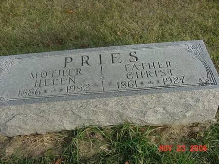 PRIES, HELEN - Scott County, Iowa | HELEN PRIES