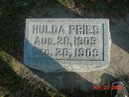 PRIES, HULDA - Scott County, Iowa | HULDA PRIES
