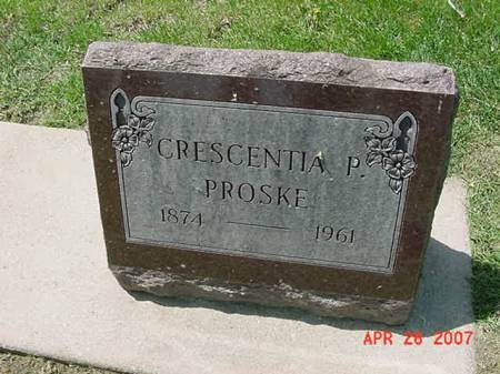 PROSKE, CRESCENTIA P - Scott County, Iowa | CRESCENTIA P PROSKE