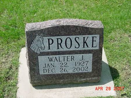 PROSKE, WALTER J - Scott County, Iowa   WALTER J PROSKE