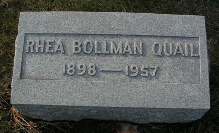 BOLLMAN QUAIL, RHEA - Scott County, Iowa | RHEA BOLLMAN QUAIL