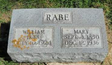 RABE, MARY - Scott County, Iowa | MARY RABE