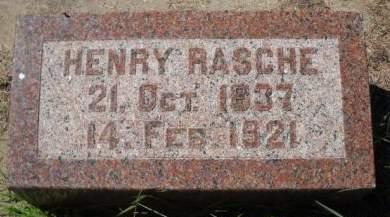 RASCHE, HENRY - Scott County, Iowa   HENRY RASCHE