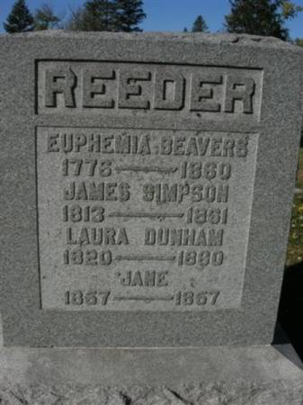 REEDER, JAMES - Scott County, Iowa | JAMES REEDER