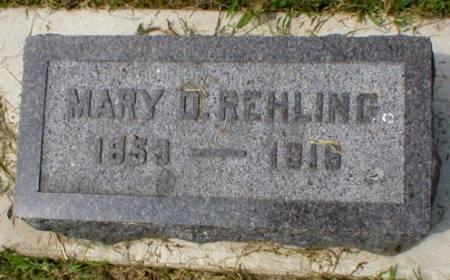 REHLING, MARY D. - Scott County, Iowa | MARY D. REHLING