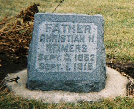 REIMERS, CHRISTIAN H. - Scott County, Iowa   CHRISTIAN H. REIMERS