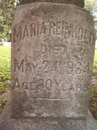 REINHOLD, MARIA - Scott County, Iowa | MARIA REINHOLD