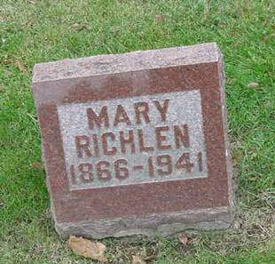 RICHLEN, MARY - Scott County, Iowa | MARY RICHLEN