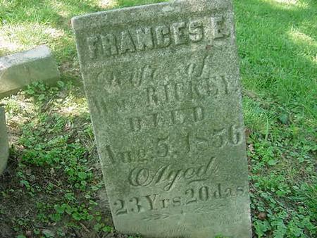 RICKEY, FRANCES E - Scott County, Iowa | FRANCES E RICKEY