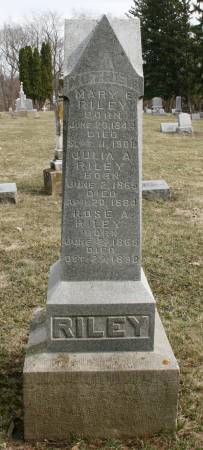 MAW RILEY, MARY E. - Scott County, Iowa   MARY E. MAW RILEY