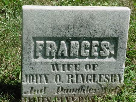 RINGLESBY, FRANCES - Scott County, Iowa   FRANCES RINGLESBY