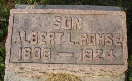 ROHSE, ALBERT L - Scott County, Iowa | ALBERT L ROHSE