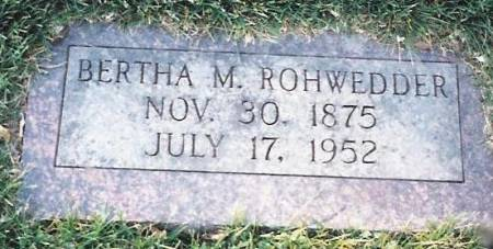 ROHWEDDER, BERTHA MINNIE - Scott County, Iowa | BERTHA MINNIE ROHWEDDER