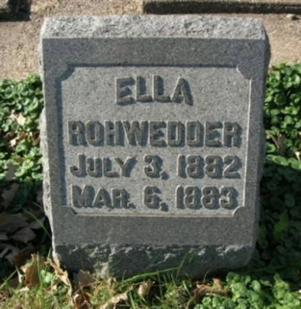 ROHWEDDER, ELLA - Scott County, Iowa | ELLA ROHWEDDER