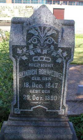 ROHWEDDER, HEINRICH - Scott County, Iowa | HEINRICH ROHWEDDER