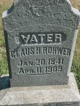 ROHWER, CLAUS H - Scott County, Iowa | CLAUS H ROHWER