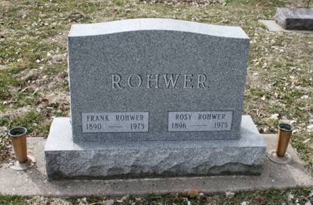 ROHWER, ROSY - Scott County, Iowa   ROSY ROHWER