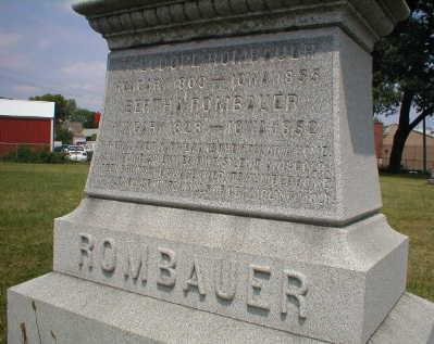 ROMBAUER, BERTHA - Scott County, Iowa   BERTHA ROMBAUER
