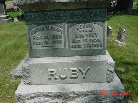 RUBY, OSCAR M - Scott County, Iowa | OSCAR M RUBY