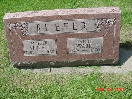 RUEFER, EDWARD G - Scott County, Iowa | EDWARD G RUEFER