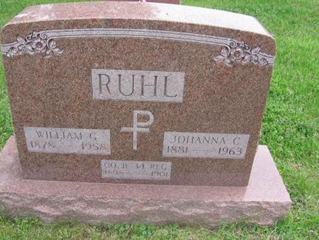 CEURVORST RUHL, JOHANNA C. - Scott County, Iowa   JOHANNA C. CEURVORST RUHL