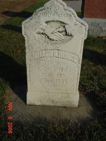 RUNGE, JOHANN N - Scott County, Iowa | JOHANN N RUNGE
