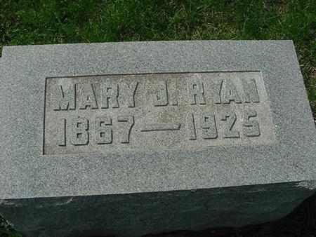 RYAN, MARY J - Scott County, Iowa | MARY J RYAN