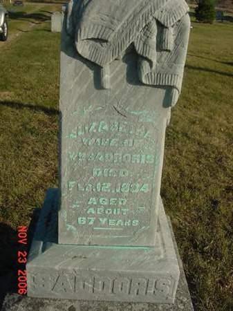 SADDORIS, ELIZABETH - Scott County, Iowa | ELIZABETH SADDORIS
