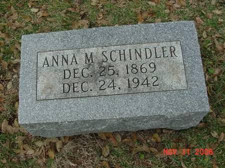 SCHINDLER, ANNA - Scott County, Iowa | ANNA SCHINDLER